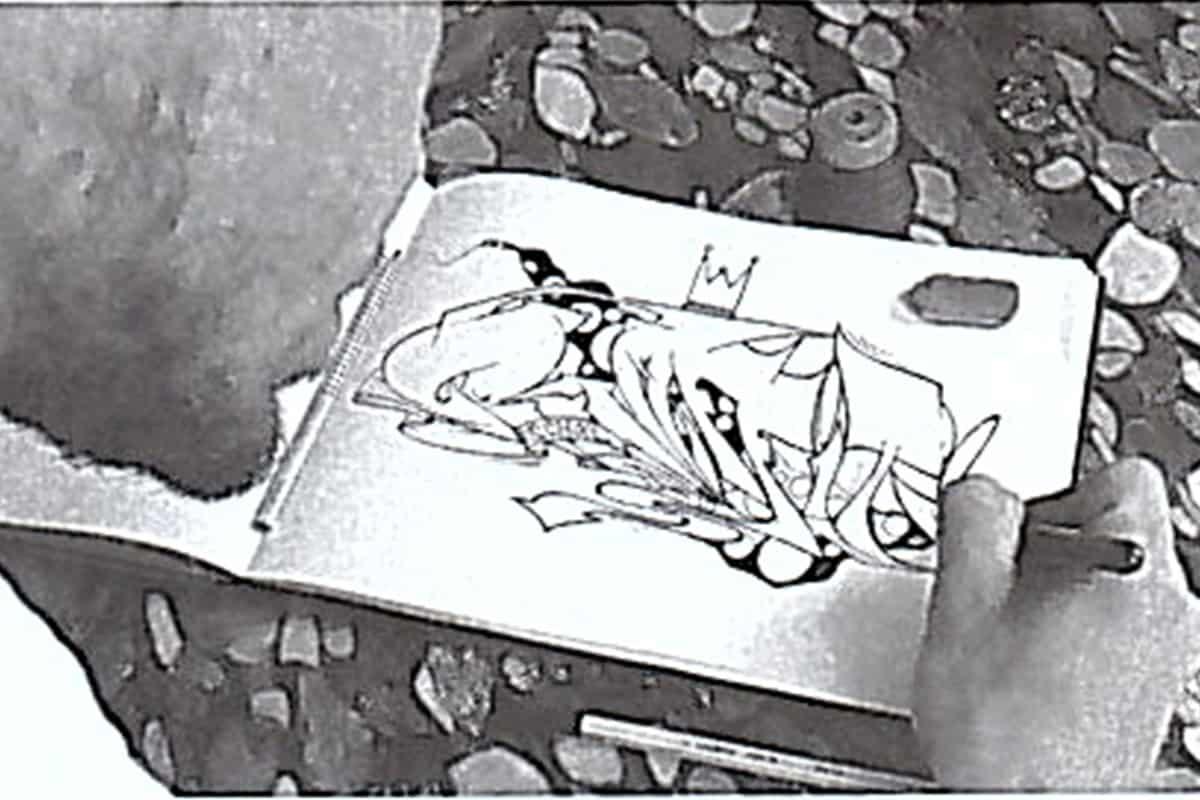 Viele Burner (außergewöhnlich gute und aufwendige Graffitis) entstehen zunächst als Skizze auf Papier