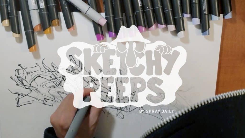 SKETCHY PEEPS 027 - SKARE
